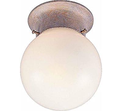 Volume Lighting V7309-22 1-Light Flush Mount Ceiling Fixture, Prairie Rock