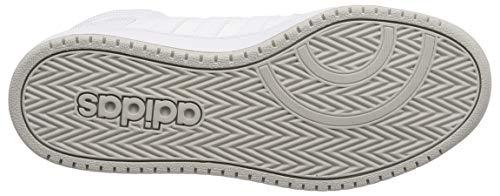 0 White 44 Ftwr Blanco Para 3 Two 2 Zapatos F17 2 Baloncesto Mid Adidas Eu De Hombre Hoops grey ZBqng
