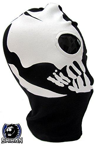'MEDELIN' 2 Hole, Wool Zorro Ninja, Fancy Dress Costume 1 Size Senior,Balaclava Ghost Skull Face Mask Bike Motorcycle Helmet Hood Ski Sport Neck Face Mask Halloween Horror]()