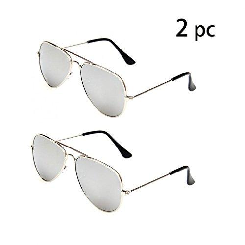 WODISON Classic Kids Aviator Sunglasses Bulk Reflective Metal Frame Children Eyeglass 2 - Real Aviator Sunglasses