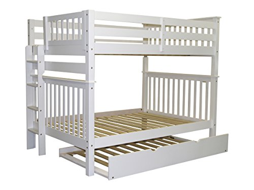 Bedz-King-Bunk-Beds-Full-over-Full-Mission-Style-with-End-Ladder-and-a-Twin-Trundle-White