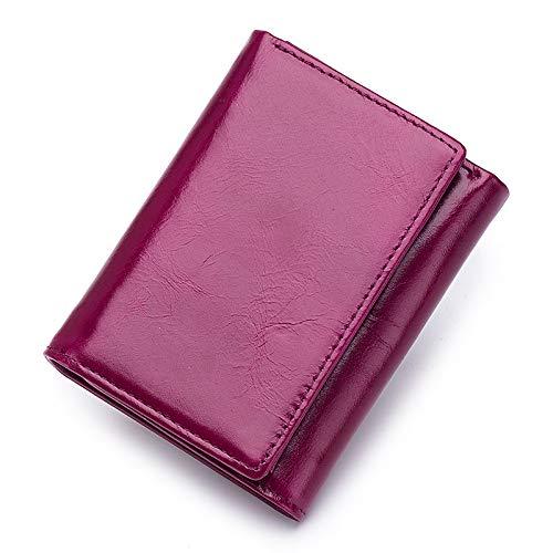 Bags Dark Fuchsia Capacité Grande QZTG Fuchsia Wallet Black main Blue De Men's Tout PU à Fourre Sacs sac Buttons Main À zwIp41