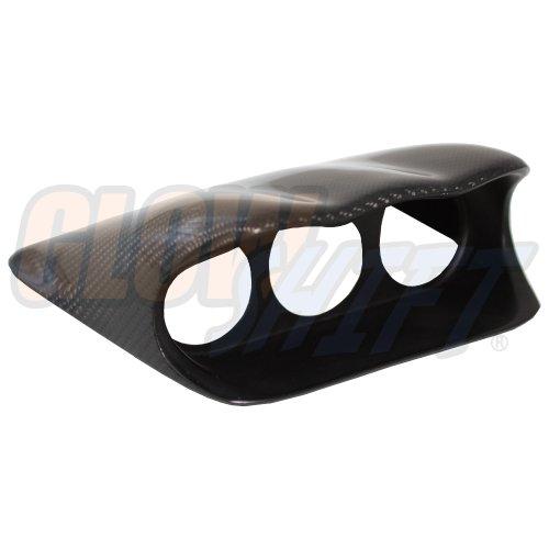 GlowShift Carbon Fiber Triple Dashboard Gauge Pod for 2002-2007 Subaru Impreza WRX STI - Mounts (3) 2-1/16