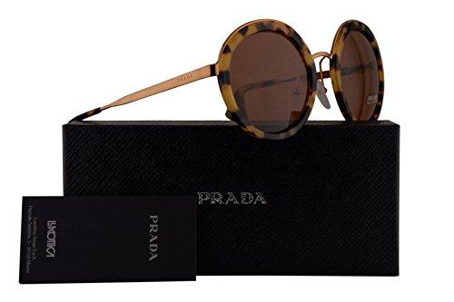 Prada PR50TS Sunglasses Light Havana Gold w/Brown 54mm Lens 7S06N0 SPR50T PR 50TS SPR 50T by Prada