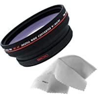 Canon XL-H1A 0.5x High Definition Wide Angle Lens (72mm) Made By Optics + Nwv Direct Micro Fiber Cleaning Cloth