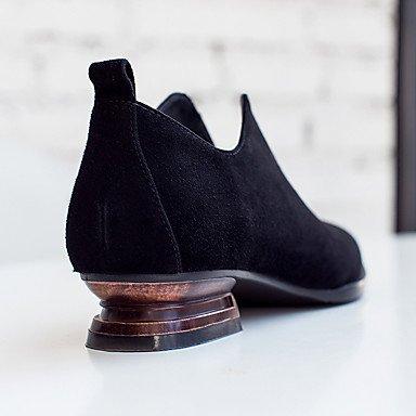 Eté Plat black Polyuréthane Confort Chaussures à Talons Femme LvYuan ggx Décontracté Confort Noir UxqwPCW0