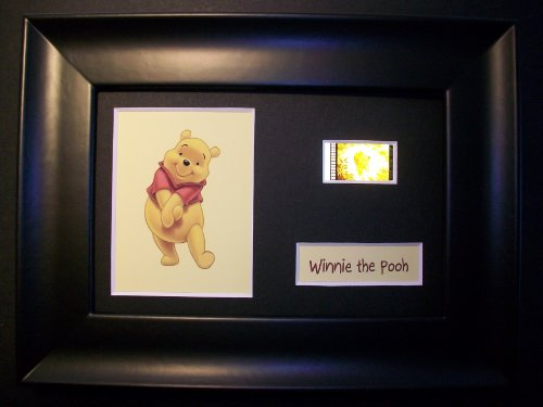 WINNIE THE POOH Framed Movie Film Cell Display Collectible Movie Memorabilia Complements Poster Book Theater