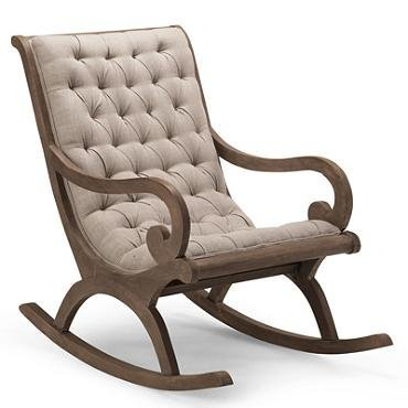 Craftatoz Cushion Rocking Chair Aaram Chair Wooden Rocking Chair For Living  Room Home Decor