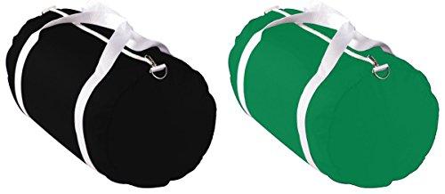 Neiman Marcus Nylon Tote (Augusta Sportswear Round Ends Sports Bags Set_BLACK & KELLY_One Size)