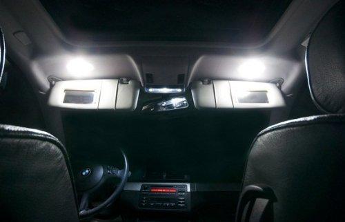 TGP 36mm-39mm White 3 LED SMD 5050 Festoon Mirror Visor Vanity Light Bulbs Pair 2007-2011 BMW 328 335 Series ALL
