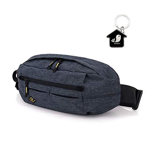 Multipurpose Fashion Waist Packs,Waterproof Bum Waist Bag,Leisure Chest Bag,for Outdoor Sport,Running,Hiking,Riding,Biking Travel Backpack. (Dark Gray)