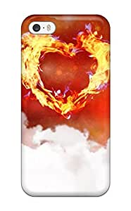 High Grade DPatrick Flexible Tpu Case For Iphone 5/5s - One Love Heart