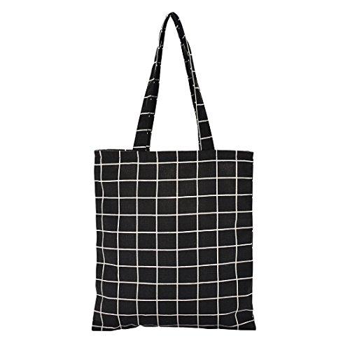 Dreamdeer Reversible Canvas Tote Shoulder Bag for Women Handbag Cotton Girl Laptop Books Bag Heavy Duty Beach Bags -