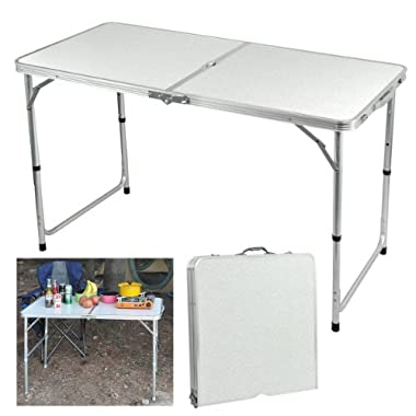 Yaheetech 4 Foot Aluminium Folding Portable Camping Picnic Party Dining Table (Table)