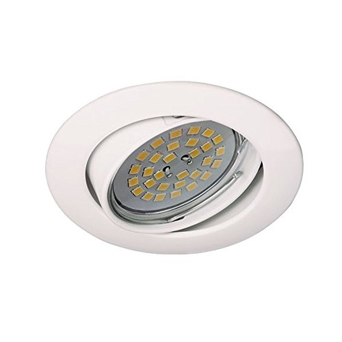 Wonderlamp Basic W-E000022 - Foco empotrable techo redondo oro viejo, incluye portalámparas GU10, diámetro de 8 x 1,5 cm. Ojo de buey basculante 30º: ...