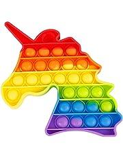 Brinquedo Pop It Unicórnio Colorido Anti Stress Sensorial Aumenta Criatividade [FIT IT]