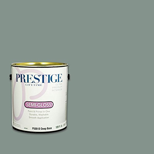 Prestige, Greens and Aquas 8 of 9, Interior Paint and Primer In One, 1-Gallon, Semi-Gloss, Fresh Meadow
