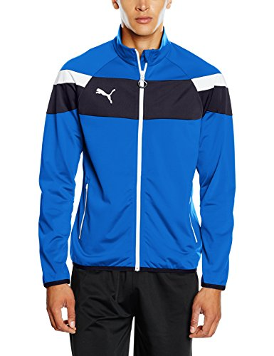 Puma Jacke Blu royal Jacket bianco Uomo Da Ii Spirit Polyester Tricot Giacca FFraw6Wqd