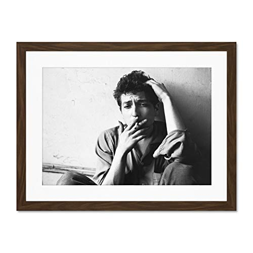 Doppelganger33 LTD Vintage Music Folk Star Bob Dylan Smoking Large Art Print Poster Wall Decor 18x24 inch Supplied Ready to Hang with Included Mount Brackets