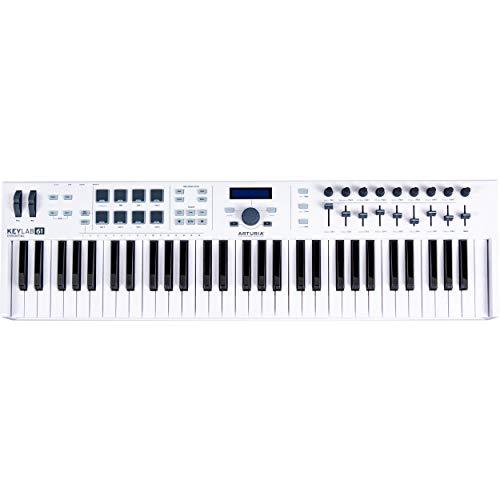 Arturia KeyLab Essential 61 Universal MIDI Controller and Software (White)