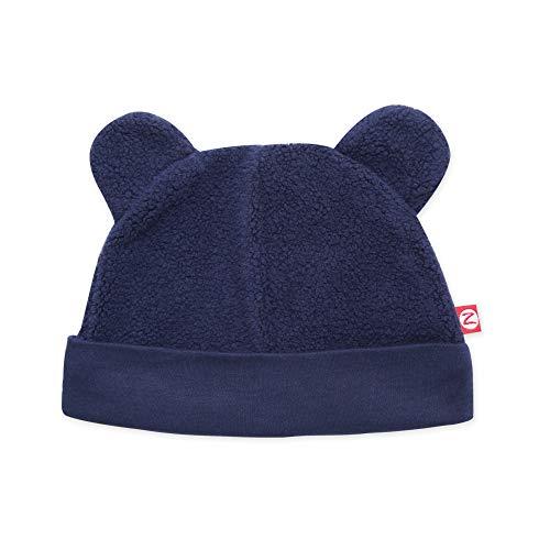 (Zutano Cozie Fleece Baby Hat, True Navy, 3M (0-3 Months))