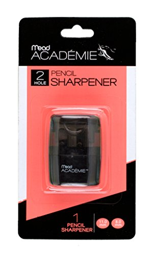 Mead Academie Manual Pencil Sharpener, 1.75 H x 1.25 W Inches, Black (98030) by Mead