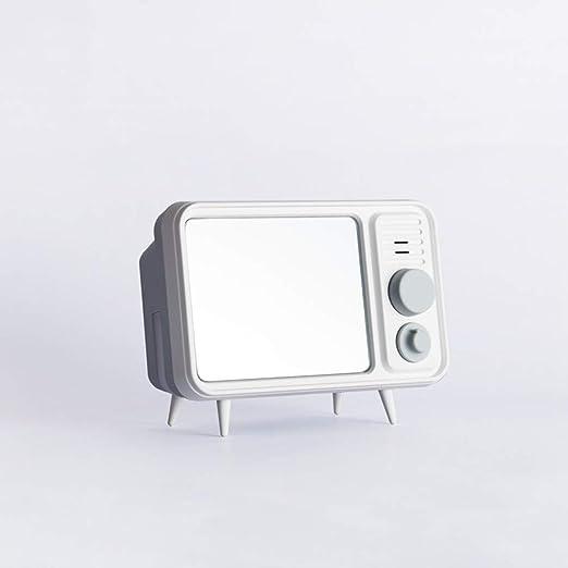 Laipan Reloj Despertador Reloj Retro en Blanco y Negro Pantalla LED en Forma de televisor Reloj Despertador Creativo con luz Nocturna de Reposo Reloj de grabación multifunción,Gray: Amazon.es: Hogar