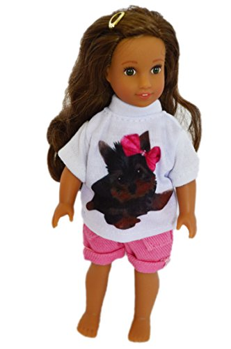 6 Inch Doll (My Brittany's Mini 6 Inch Yorkie Outfit for American Girl Mini Doll and Lori Dolls)