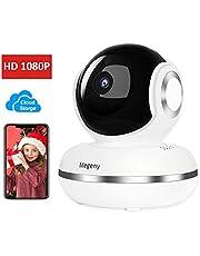 megeny 1080P WLAN IP Kamera Überwachungskamera mit Nachtsicht, Bewegungserkennung, Cloud Speicher, Zwei-Wege Audio, Fernalarm, Unterstützung iOS Android App, Home Indoor Kamera Baby Monitor