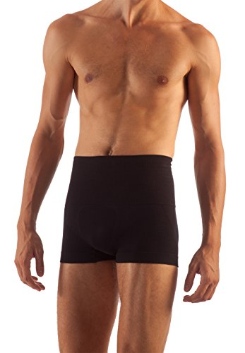 Farmacell Control - FarmaCell 402 (Black, M) Men's Shaping Control Boxer Briefs with Waist Girdle