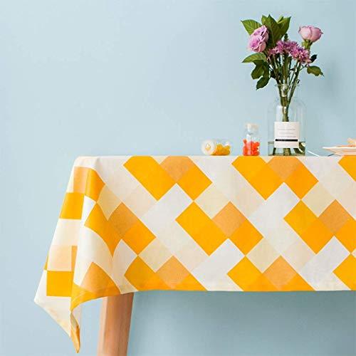 JFFFFWI Tissu à voiturereaux Jaune Vif Couvre-Table imperméable à l'eau et à la poussière imperméable à l'eau (Taille  110x170cm)