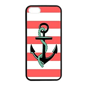 Red and White Stripes with Anchor and Rope Personality luxury cover case for Iphone 6(Black)ALL MY DREAMS
