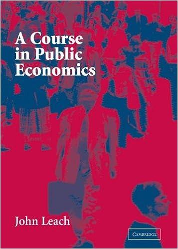 Kindle ebook butik download A Course in Public Economics by John Leach PDF