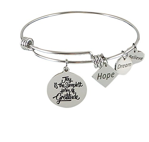 Stainless Expandable Bangle Simplest Gratitude