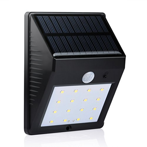 LEDMO-Solar-Light-16-Leds-Solar-Powered-Wireless-Motion-Sensor-Light-with-2-Intelligent-Modes-IP65-Waterproof-Wall-Light-Black