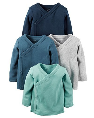 Carter's Baby Boys 4-Pack Cotton Kimono Tees (Newborn) -