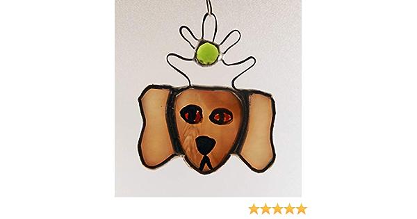 Hungarian Puli Stained Glass Suncatcher Dog Memorial Original and Exclusive Design Handmade Glass Dog