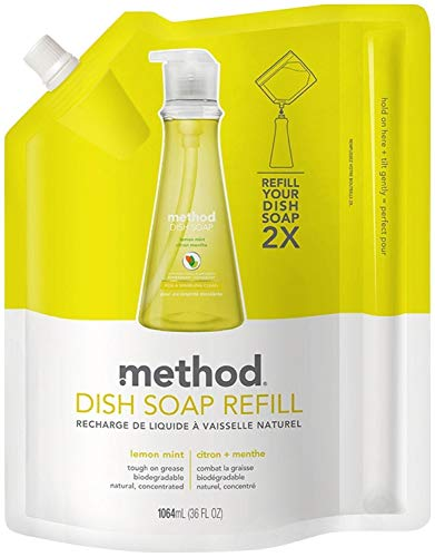 - Method Gel Dish Pump Refill 36oz, Lemon Mint (Pack of 2)