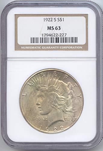 1922 S Peace Dollar MS-63 NGC