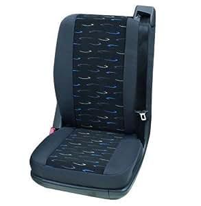 Fundas de asiento de coche, Transporter, 1 x solo asiento hinten, Nissan Interstar, gris/azul