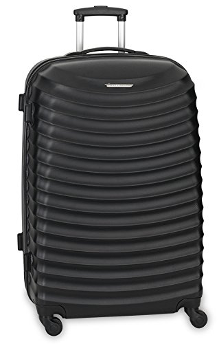 Fabrizio Travel Urban Waves 4-Rollen-Kabinentrolley 55 cm, schwarz