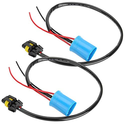 Sourcingmap 2Pcs H9 Plastic 2 Wires Harness Socket Car Fog Light Bulb Extension Connector