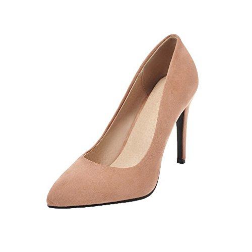Tirano Donne Beige Solidi Talloni Pompe shoes Chiuso Punta Weipoot Delle Smerigliati Indicata xXTHwwqp