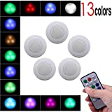 Wall Lamp - Wireless LED Remote Control Wall Light (Touch Control and Remote Control) Adjustable 13 Lighting Colors at Randomly to Meet Your Different Lighting Requirements