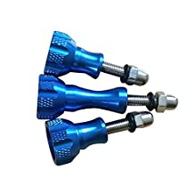 SODIAL(R) 3x Aluminium alloy Knob Thumb Screw Mount accessories, for gopro hero 5 4 3 sjcam original sj4000 sj5000 SJ6 m10 h9 h3 c30, Blue