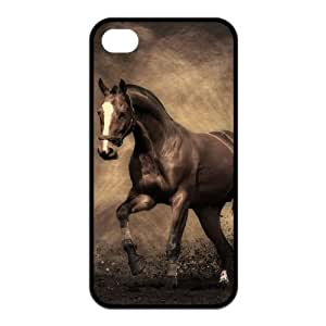 Horse Design Solid Rubber Customized Cover Case for iPhone 4 4s 4s-linda68