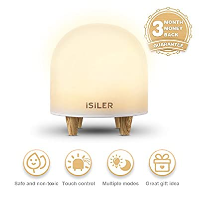 Night Light for Kids, iSiLER Portable Silicone Cute Nursery Night Lamp, Romantic Dim Mood Lamp, Touch Control Bedside Lamp, Baby Night light BPA-Free, 48 Hours Runtime