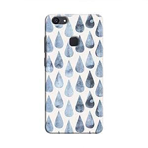 cover It Up - Raindrops Print Denim V7 Plus Hard case
