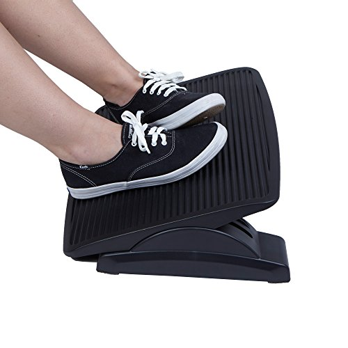 Monitor Foot (Mind Reader Adjustable Height Ergonomic Foot Rest, Black)