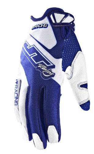JT Racing USA Evolve Lite Dirt Bike MX Motocross Gloves with Race Graphics (Blue/White, Small) from JT Racing USA